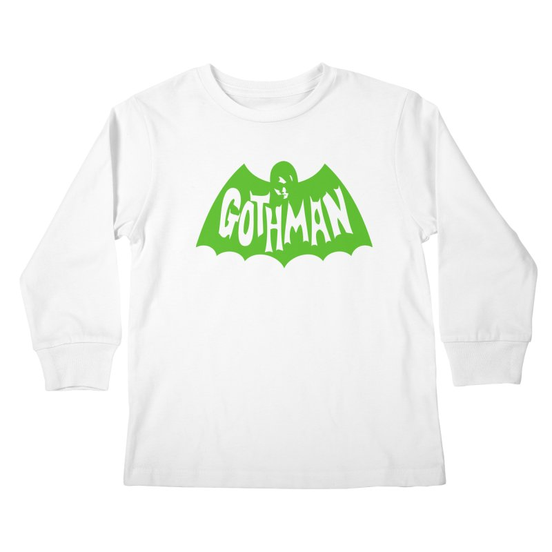 Gothman Classic Green Kids Longsleeve T-Shirt by Gothman Flavored Clothing