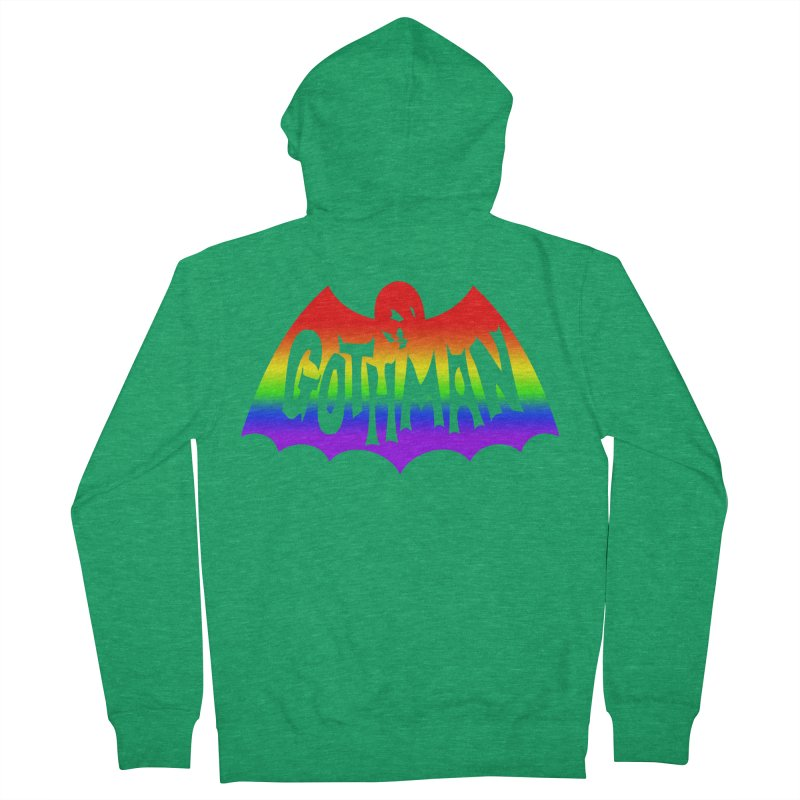 Gothman Classic Taste The Rainbow Men's Zip-Up Hoody by Gothman Flavored Clothing