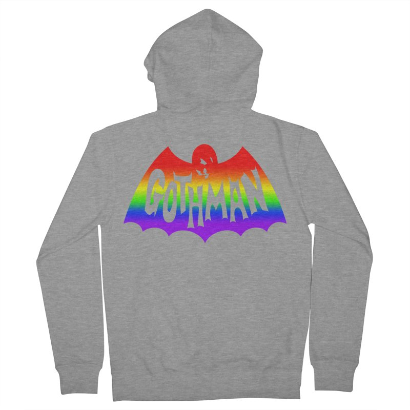 Gothman Classic Taste The Rainbow Men's French Terry Zip-Up Hoody by Gothman Flavored Clothing