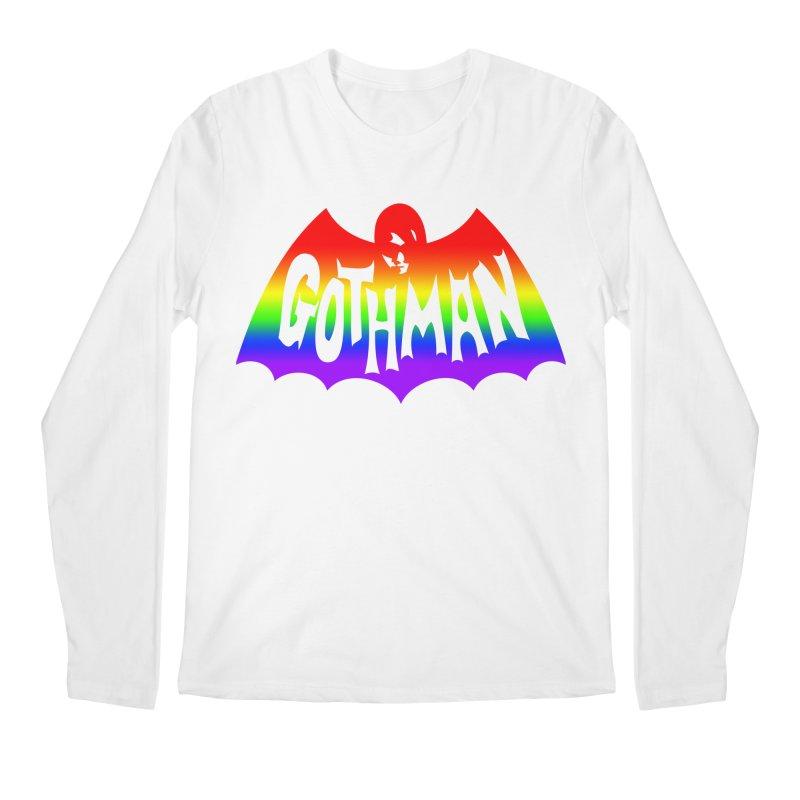 Gothman Classic Taste The Rainbow Men's Regular Longsleeve T-Shirt by Gothman Flavored Clothing