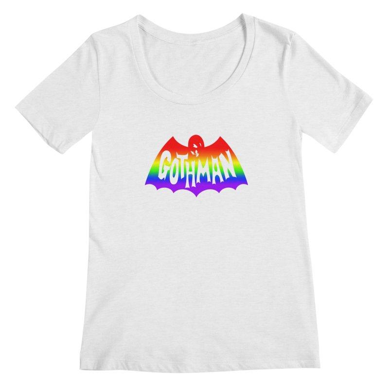 Gothman Classic Taste The Rainbow Women's Regular Scoop Neck by Gothman Flavored Clothing