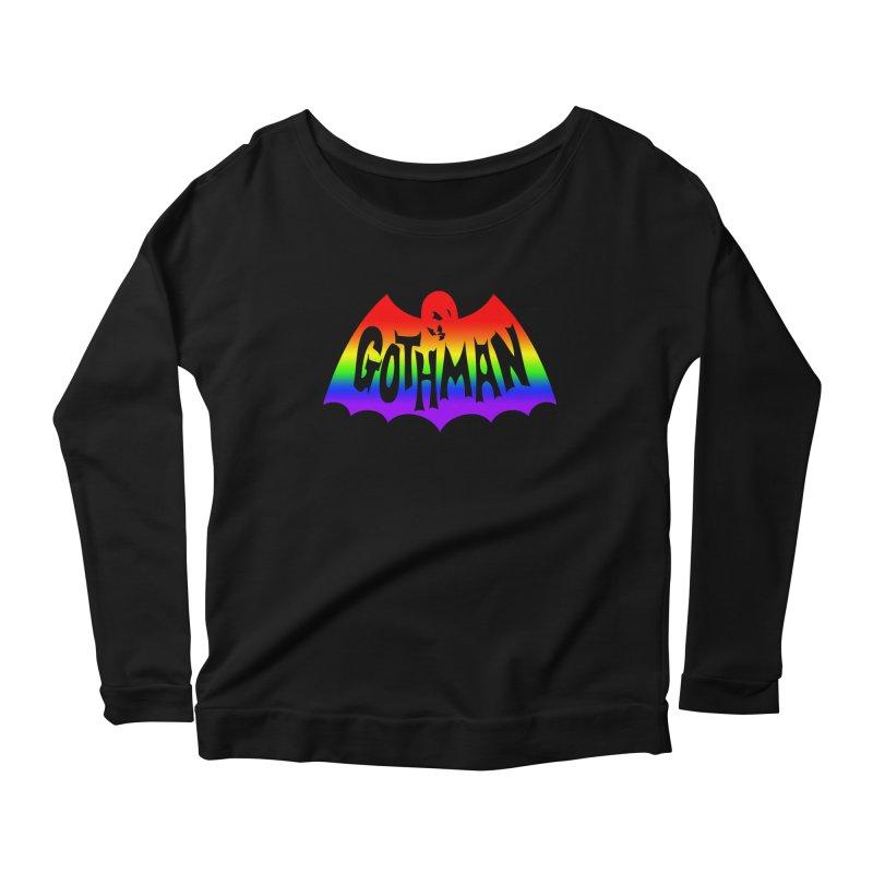 Gothman Classic Taste The Rainbow Women's Longsleeve Scoopneck  by Gothman Flavored Clothing