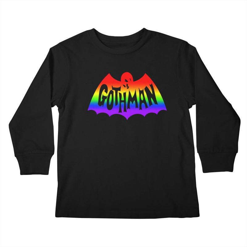 Gothman Classic Taste The Rainbow Kids Longsleeve T-Shirt by Gothman Flavored Clothing