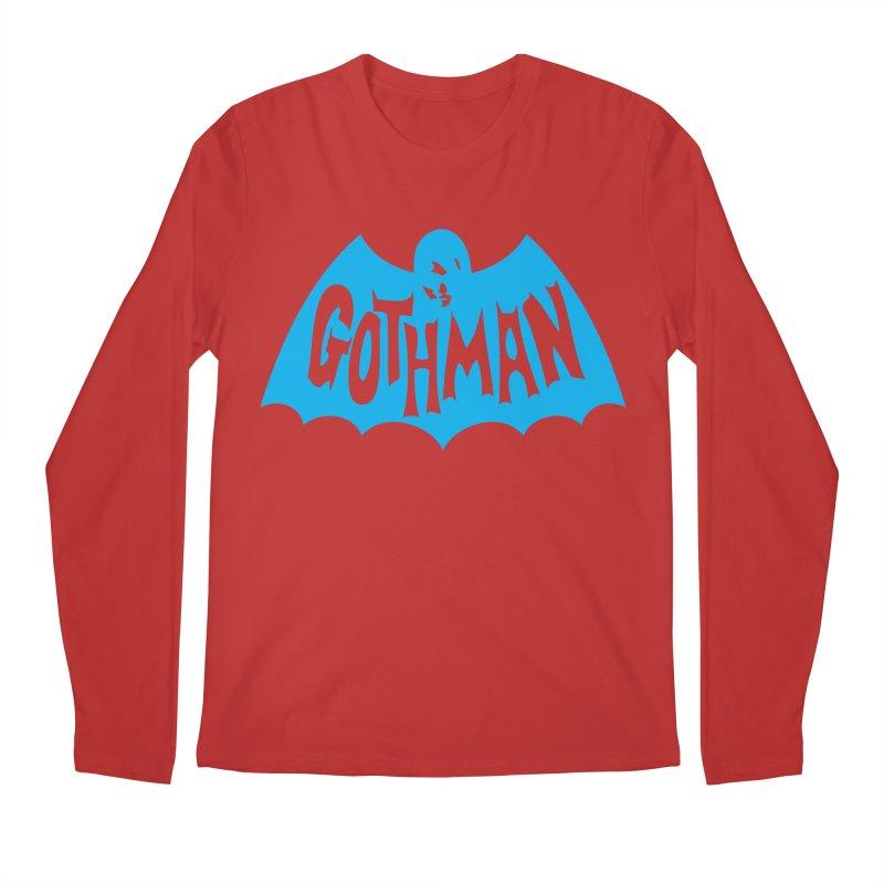 Gothman Classic Cyan Men's Regular Longsleeve T-Shirt by Gothman Flavored Clothing