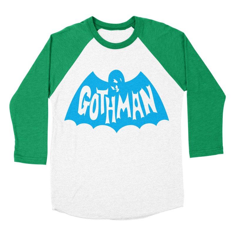 Gothman Classic Cyan Men's Baseball Triblend T-Shirt by Gothman Flavored Clothing