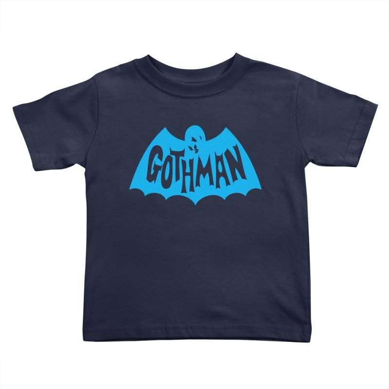 Gothman Classic Cyan Kids Toddler T-Shirt by Gothman Flavored Clothing