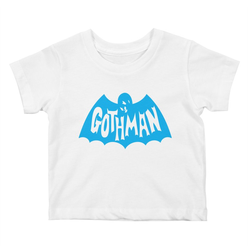 Gothman Classic Cyan Kids Baby T-Shirt by Gothman Flavored Clothing