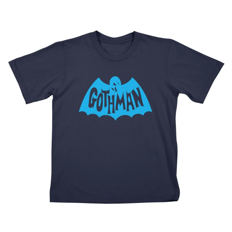 Gothman Classic Cyan Kids T-Shirt by Gothman Flavored Clothing