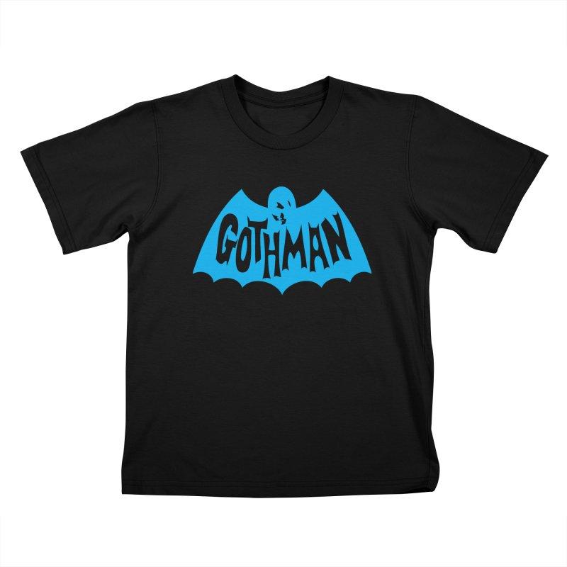 Gothman Classic Cyan Kids T-Shirt by Gothman Flavored Clothing