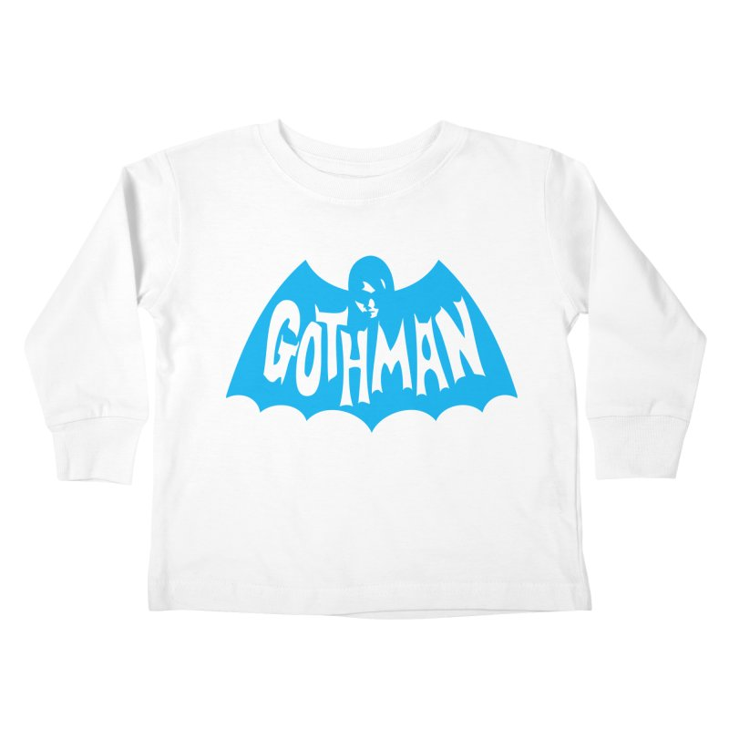 Gothman Classic Cyan Kids Toddler Longsleeve T-Shirt by Gothman Flavored Clothing