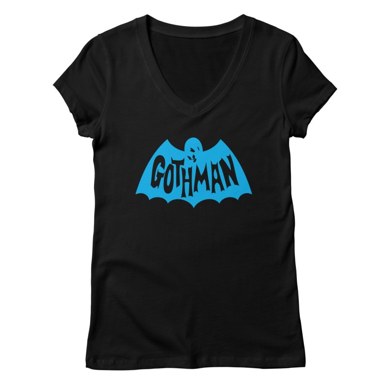 Gothman Classic Cyan Women's V-Neck by Gothman Flavored Clothing