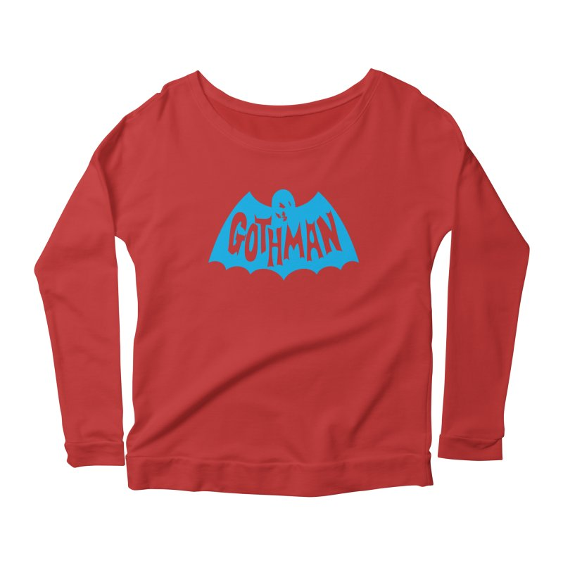 Gothman Classic Cyan Women's Longsleeve Scoopneck  by Gothman Flavored Clothing