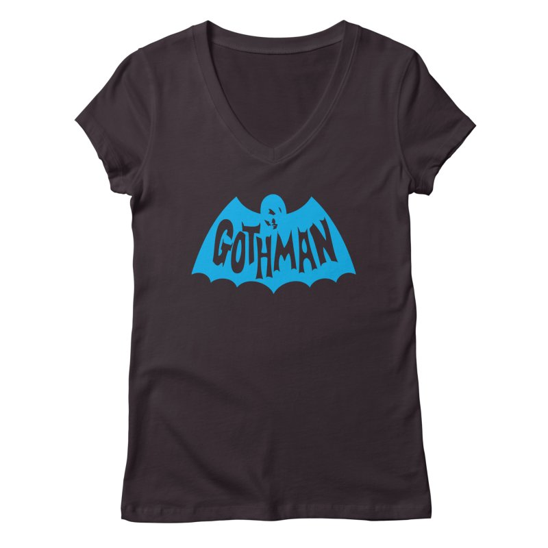Gothman Classic Cyan Women's Regular V-Neck by Gothman Flavored Clothing