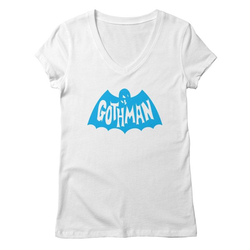Gothman Classic Cyan Women's V-Neck by Gothman Flavored Clothing