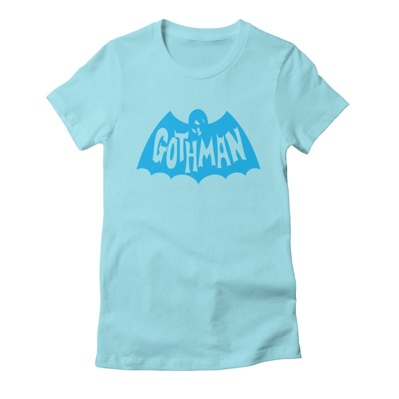 Gothman Classic Cyan Women's Fitted T-Shirt by Gothman Flavored Clothing