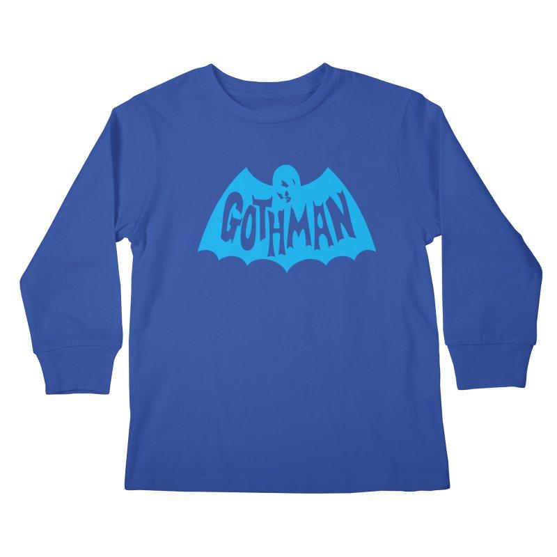 Gothman Classic Cyan Kids Longsleeve T-Shirt by Gothman Flavored Clothing