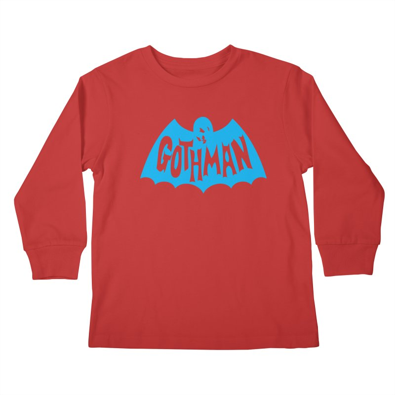 Gothman Classic Cyan Kids Longsleeve T-Shirt by Gothman Flavored Clothing