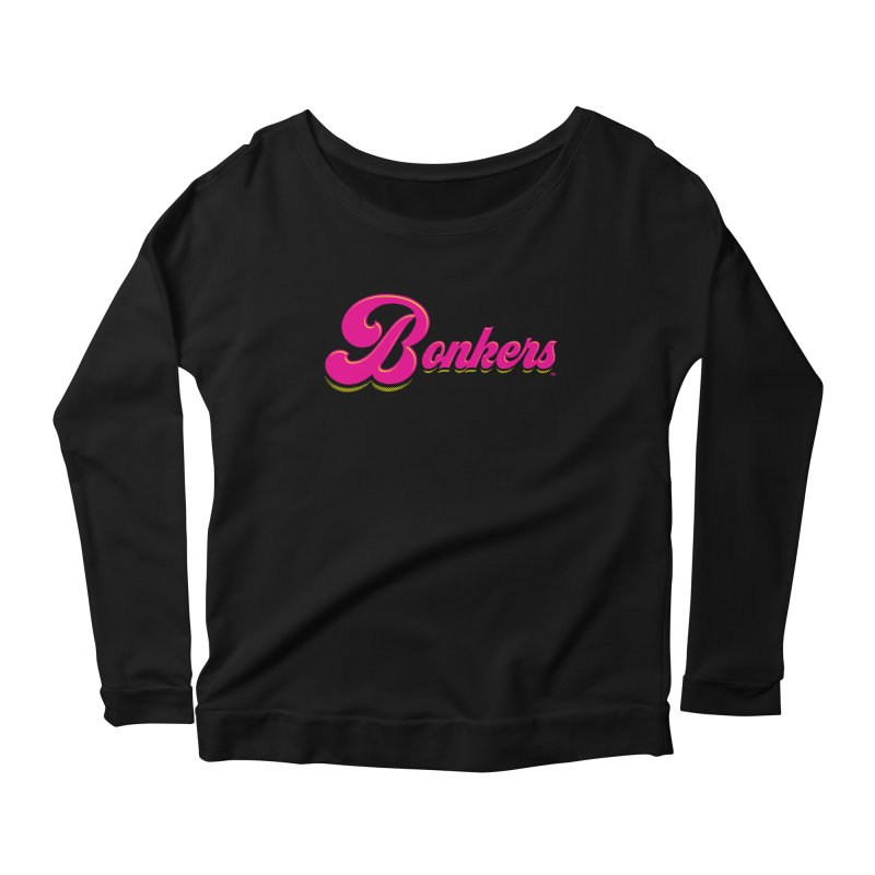Bonkers! Women's Scoop Neck Longsleeve T-Shirt by Gothman Flavored Clothing