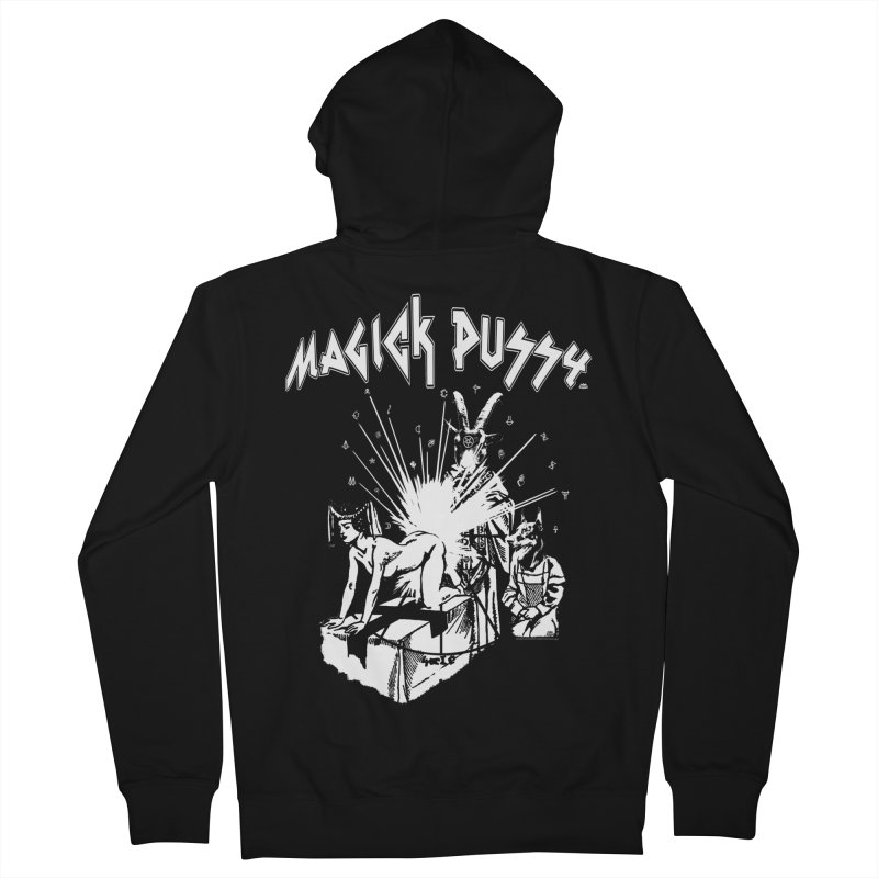 Magick Pussy Women's French Terry Zip-Up Hoody by Gothman Flavored Clothing