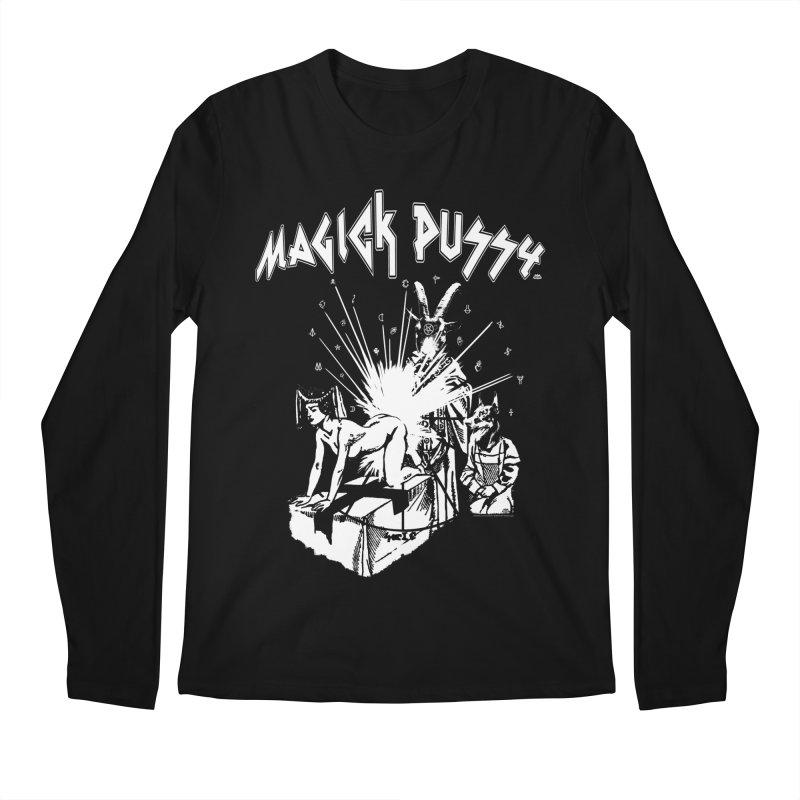 Magick Pussy Men's Regular Longsleeve T-Shirt by Gothman Flavored Clothing