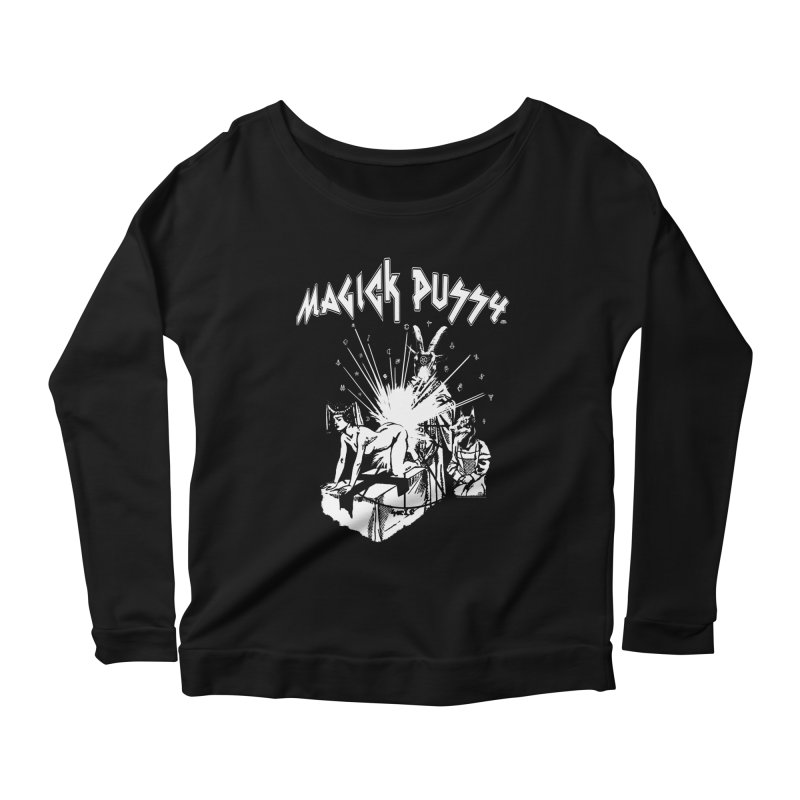Magick Pussy Women's Scoop Neck Longsleeve T-Shirt by Gothman Flavored Clothing