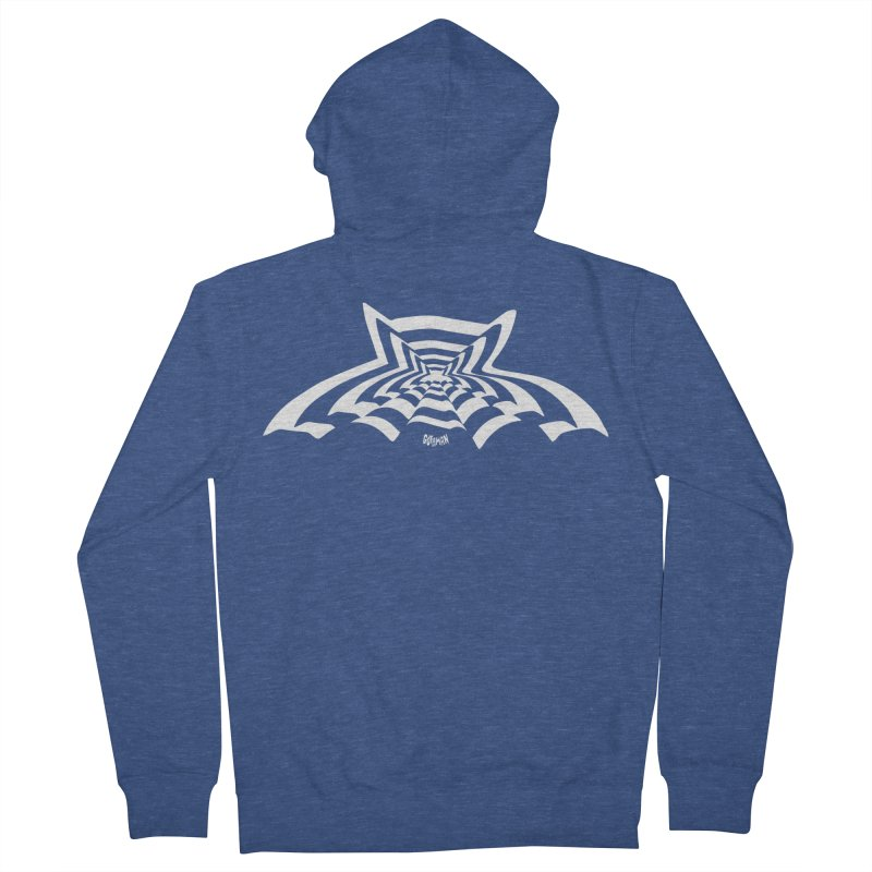9 Bats (No. 3) Men's Zip-Up Hoody by Gothman Flavored Clothing
