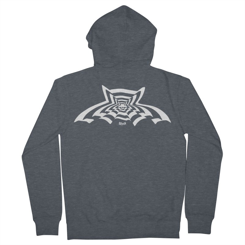 9 Bats (No. 3) Women's Zip-Up Hoody by Gothman Flavored Clothing