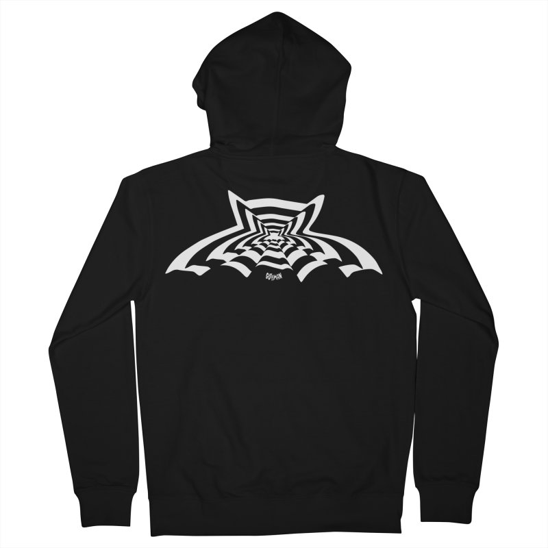 9 Bats (No. 3) Women's French Terry Zip-Up Hoody by Gothman Flavored Clothing