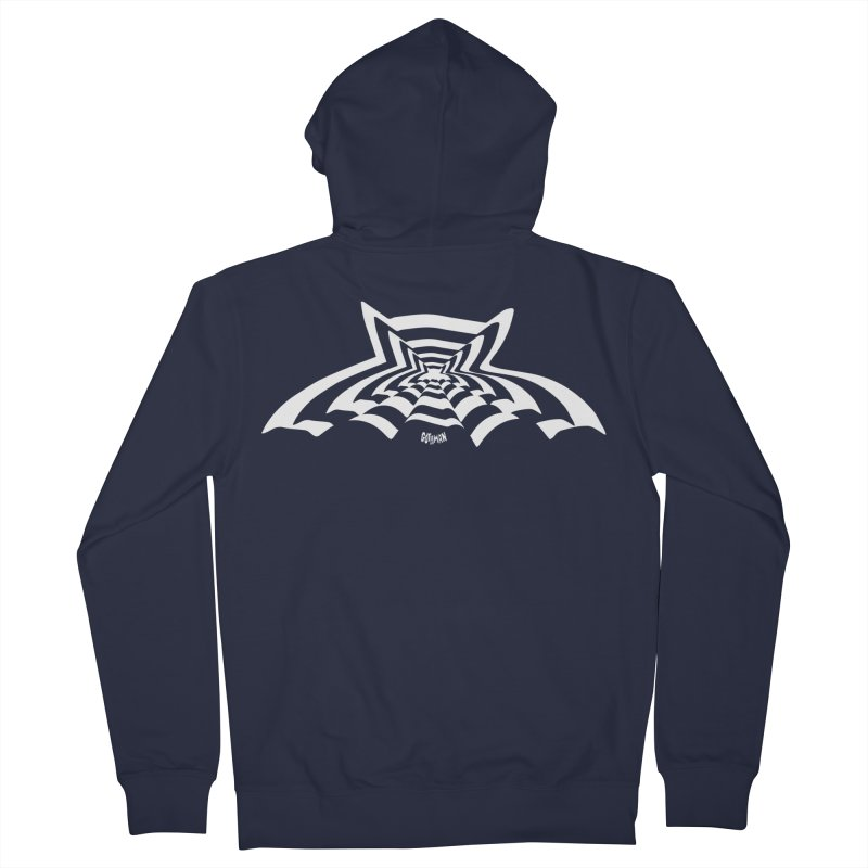 9 Bats (No. 3) Men's French Terry Zip-Up Hoody by Gothman Flavored Clothing