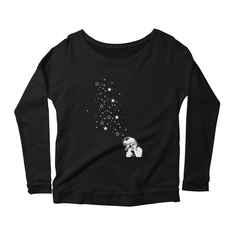 Sparkles The Filthiest Person Alive (Dark) Women's Longsleeve Scoopneck  by Gothman Flavored Clothing