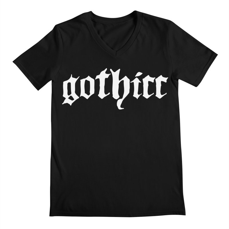 gothicc Men's V-Neck by Gothman Flavored Clothing