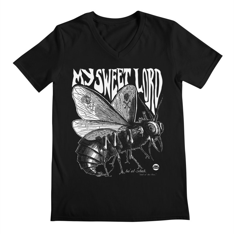 My Sweet Lord Beelzebub Men's V-Neck by Gothman Flavored Clothing