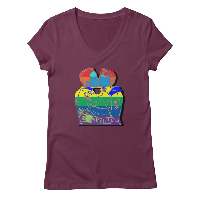 Sailor Kiss Women's V-Neck by Gothman Flavored Clothing