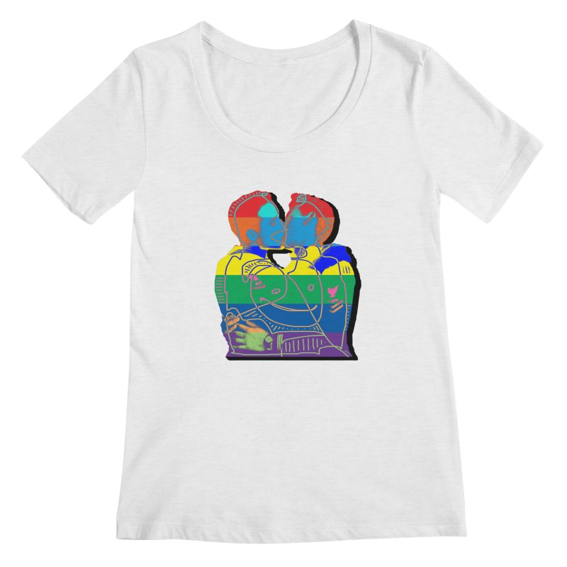 Sailor Kiss Women's Regular Scoop Neck by Gothman Flavored Clothing