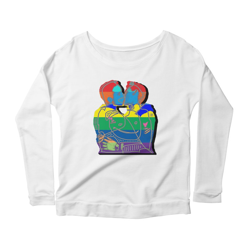Sailor Kiss Women's Longsleeve Scoopneck  by Gothman Flavored Clothing