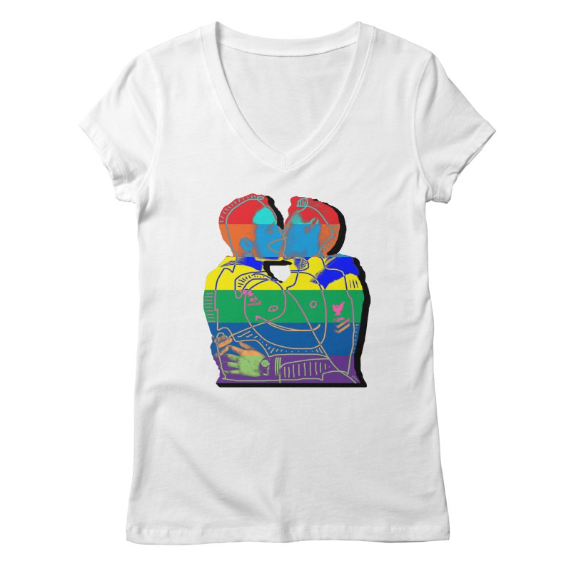 Sailor Kiss Women's Regular V-Neck by Gothman Flavored Clothing