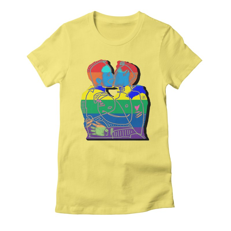 Sailor Kiss Women's Fitted T-Shirt by Gothman Flavored Clothing