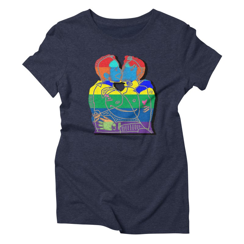 Sailor Kiss Women's Triblend T-Shirt by Gothman Flavored Clothing
