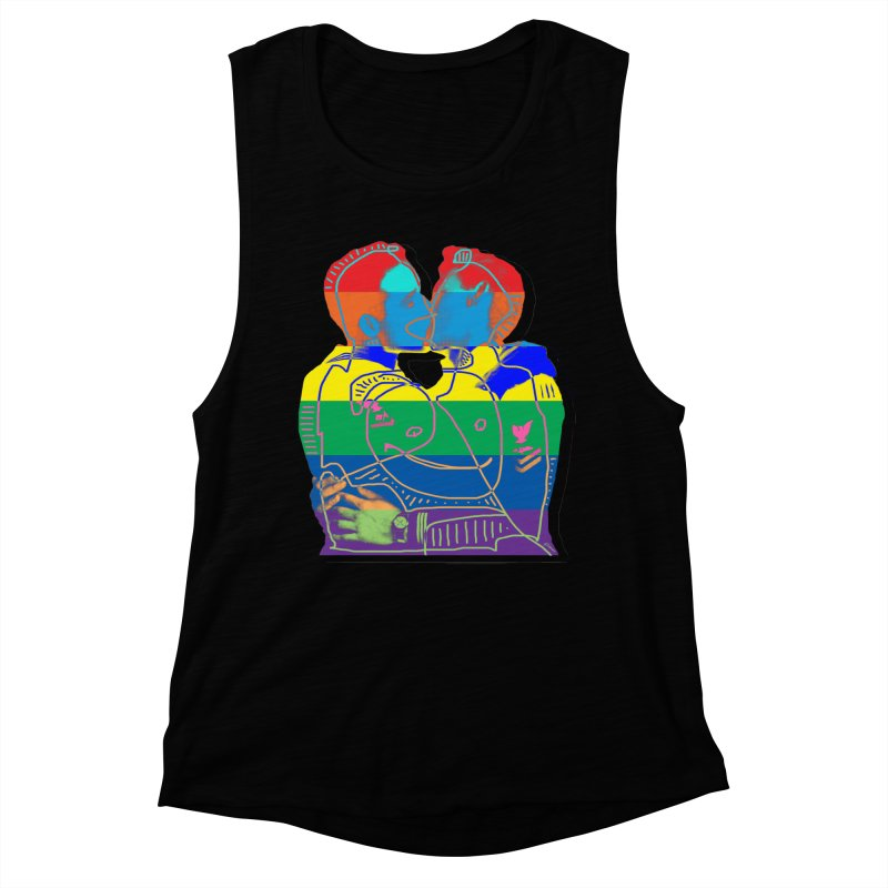 Sailor Kiss Women's Muscle Tank by Gothman Flavored Clothing