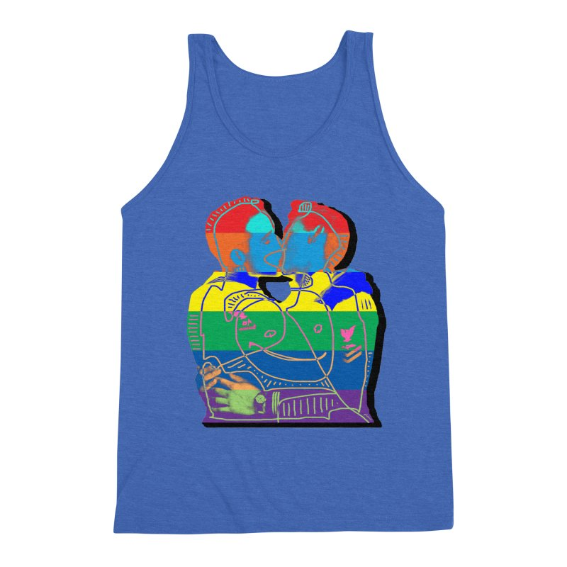 Sailor Kiss Men's Triblend Tank by Gothman Flavored Clothing