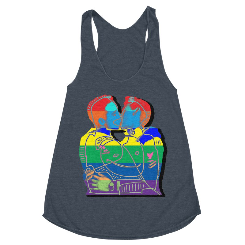 Sailor Kiss Women's Racerback Triblend Tank by Gothman Flavored Clothing