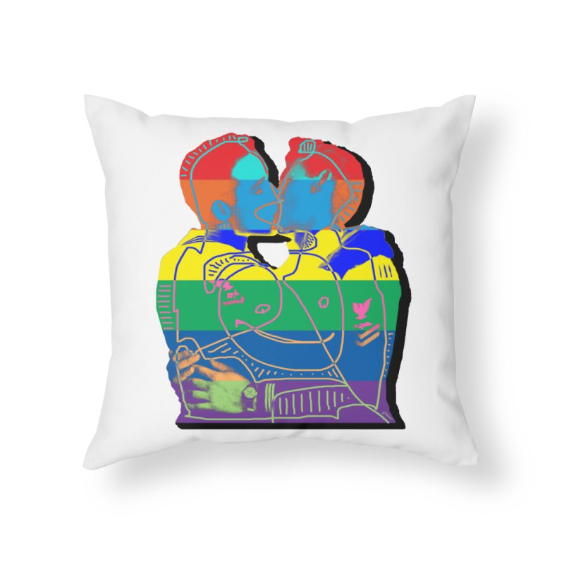 Sailor Kiss Home Throw Pillow by Gothman Flavored Clothing