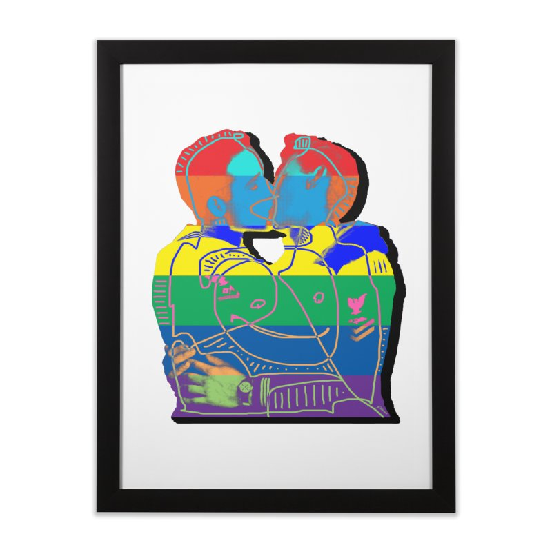 Sailor Kiss Home Framed Fine Art Print by Gothman Flavored Clothing