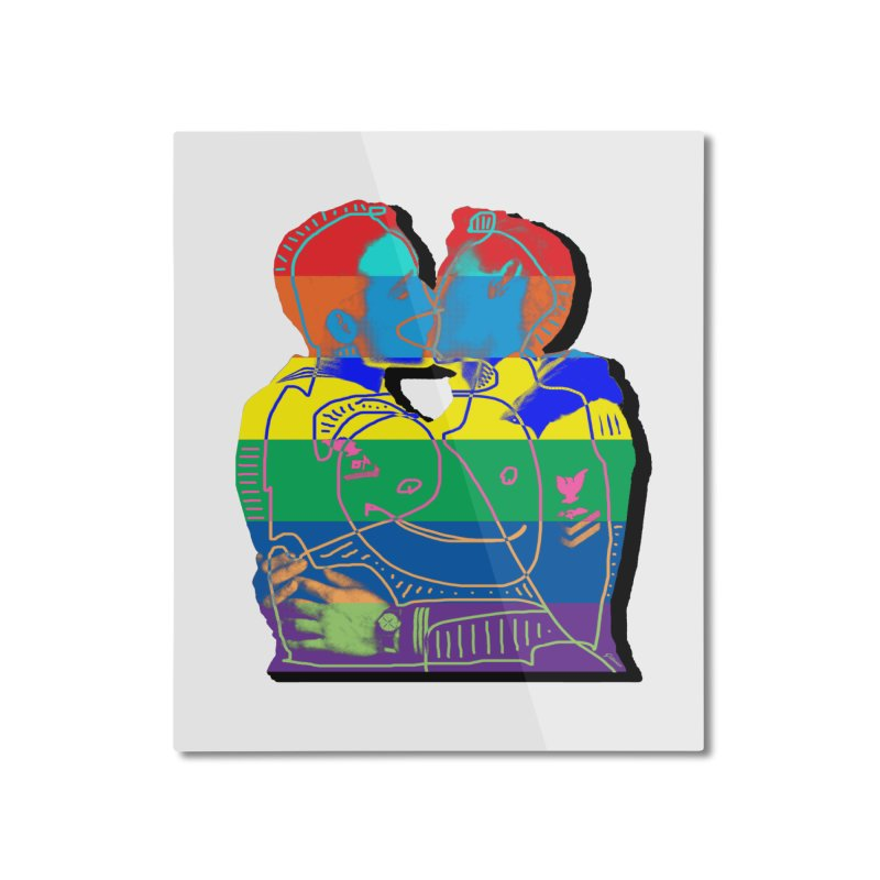Sailor Kiss Home Mounted Aluminum Print by Gothman Flavored Clothing