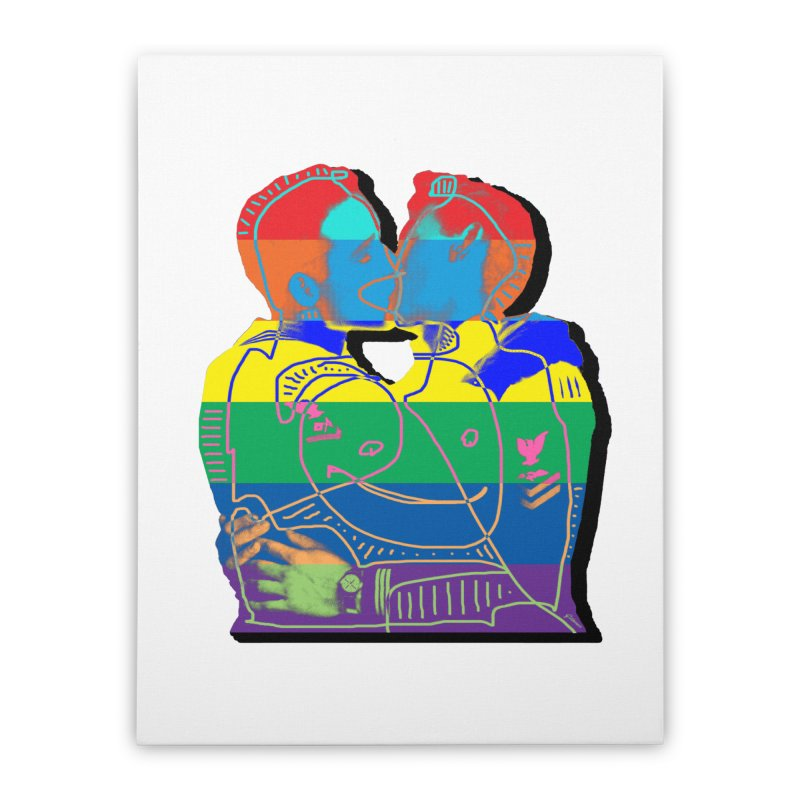 Sailor Kiss Home Stretched Canvas by Gothman Flavored Clothing