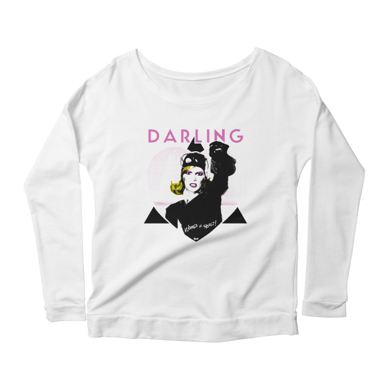 Darling in Revolt Women's Longsleeve Scoopneck  by Gothman Flavored Clothing