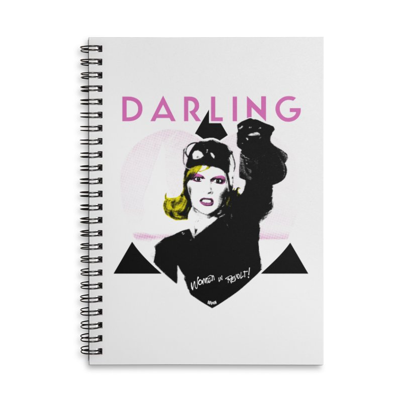 Darling in Revolt Accessories Lined Spiral Notebook by Gothman Flavored Clothing