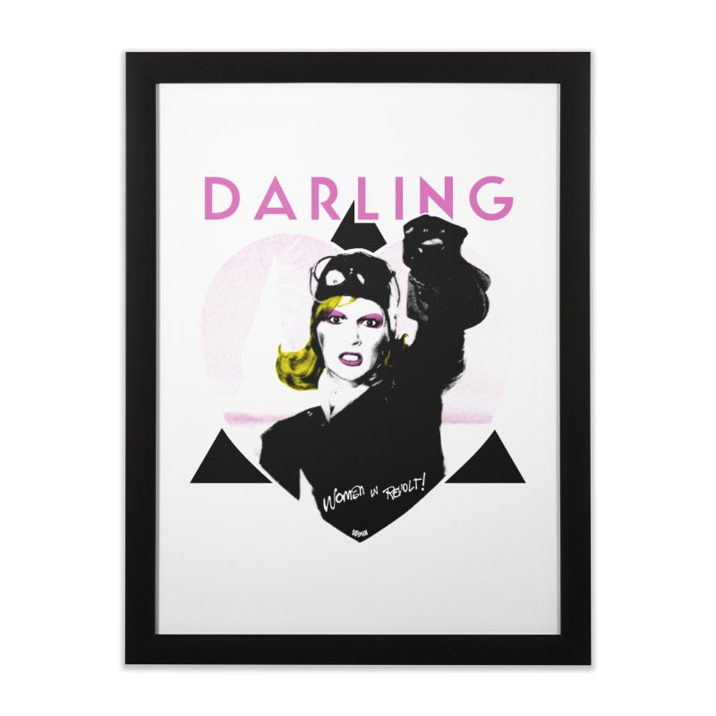 Darling in Revolt Home Framed Fine Art Print by Gothman Flavored Clothing
