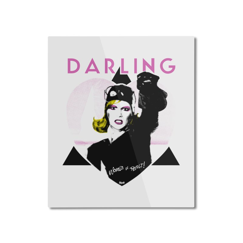 Darling in Revolt Home Mounted Aluminum Print by Gothman Flavored Clothing