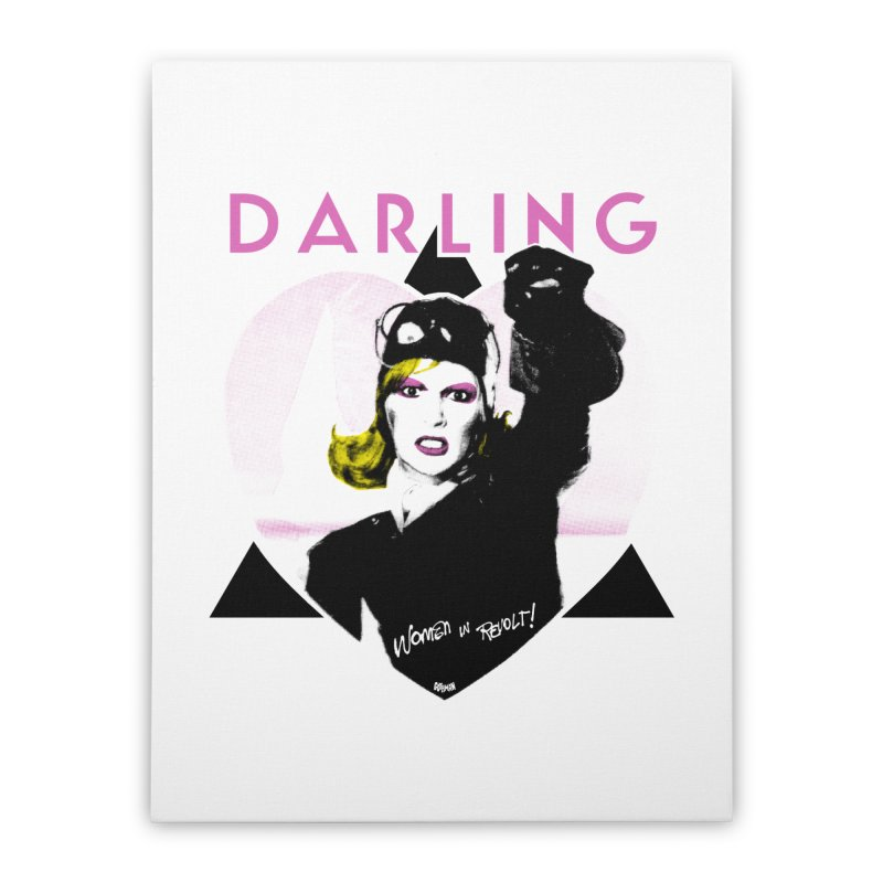 Darling in Revolt Home Stretched Canvas by Gothman Flavored Clothing